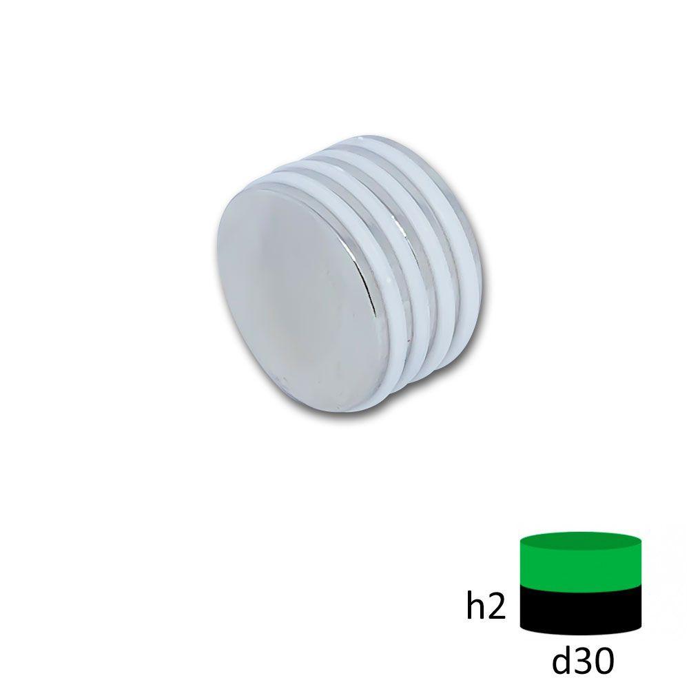 Неодимовый магнит диск 30х2 мм.