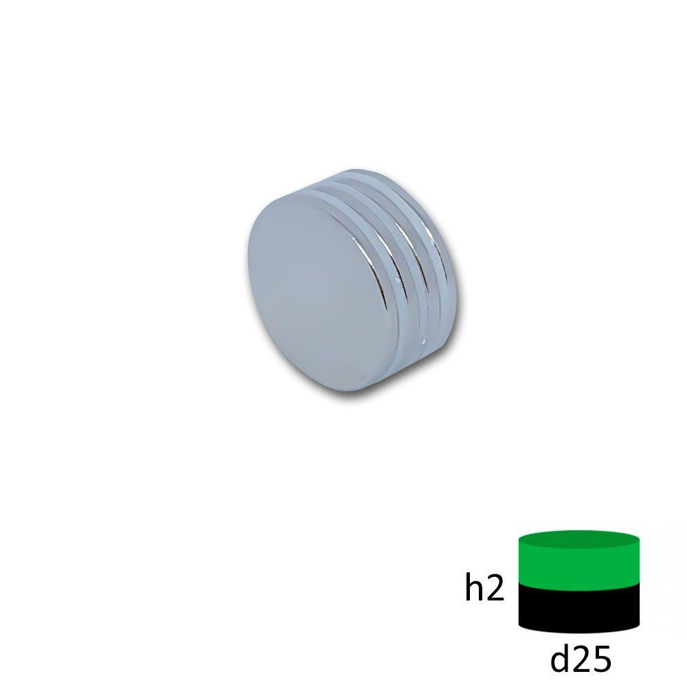Неодимовый магнит диск 25х2 мм.