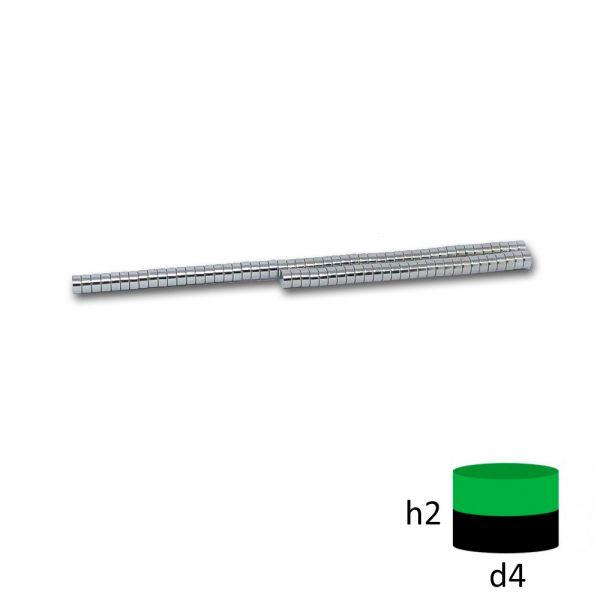 Неодимовый диск магнит 4х2 мм.