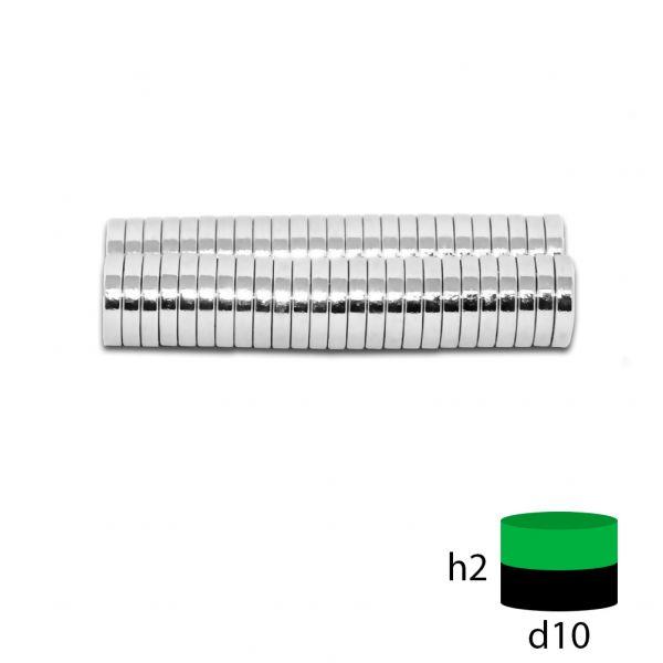 Неодимовый магнит 10х2 мм.