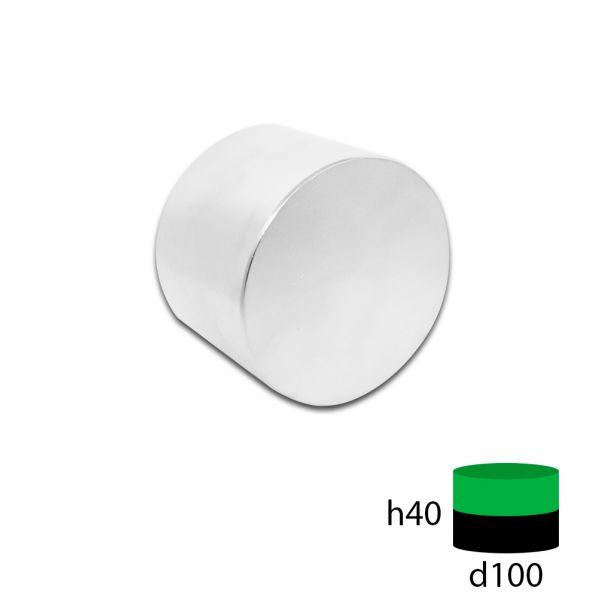 Неодимовый магнит диск 100х40 мм.