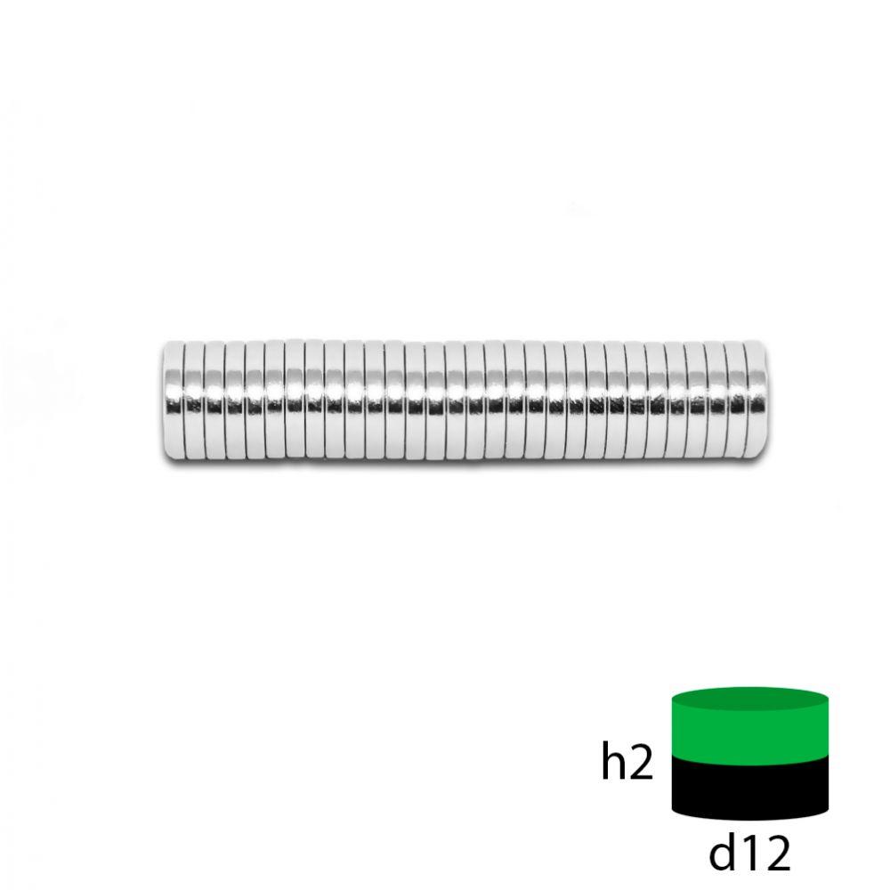 Неодимовый магнит 12х2 мм.