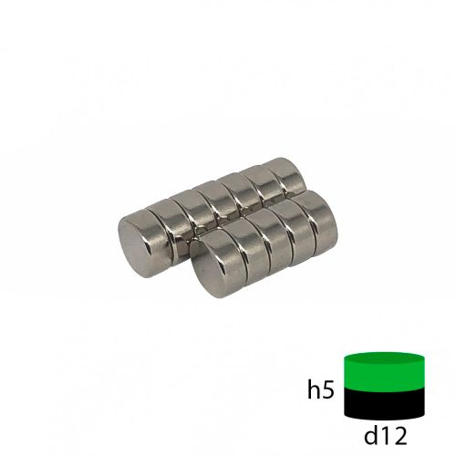 Неодимовый магнит пруток 12х5 мм.