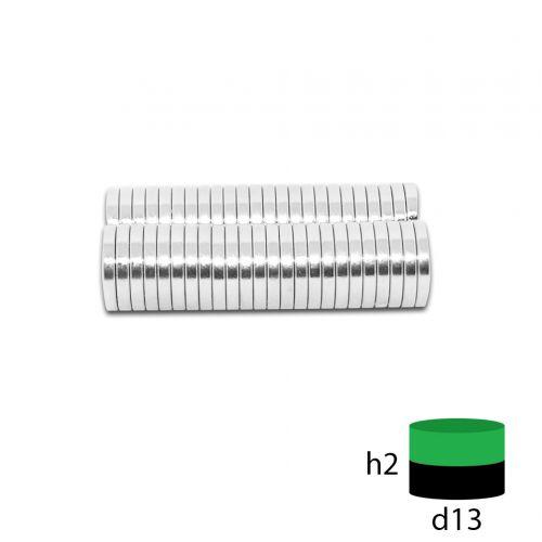 Неодимовый магнит 13х2 мм.