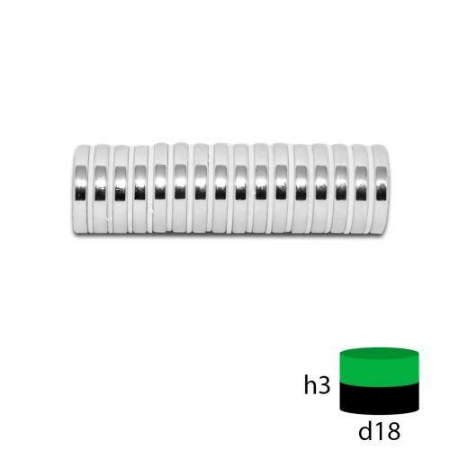 Неодимовый магнит 18х3 мм.