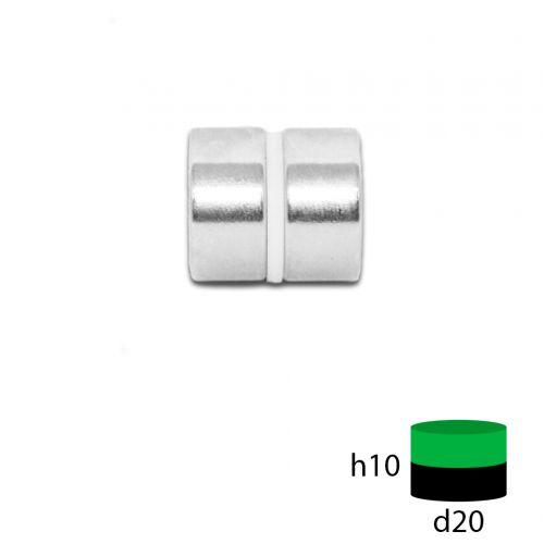 Неодимовый магнит 20х10 мм.