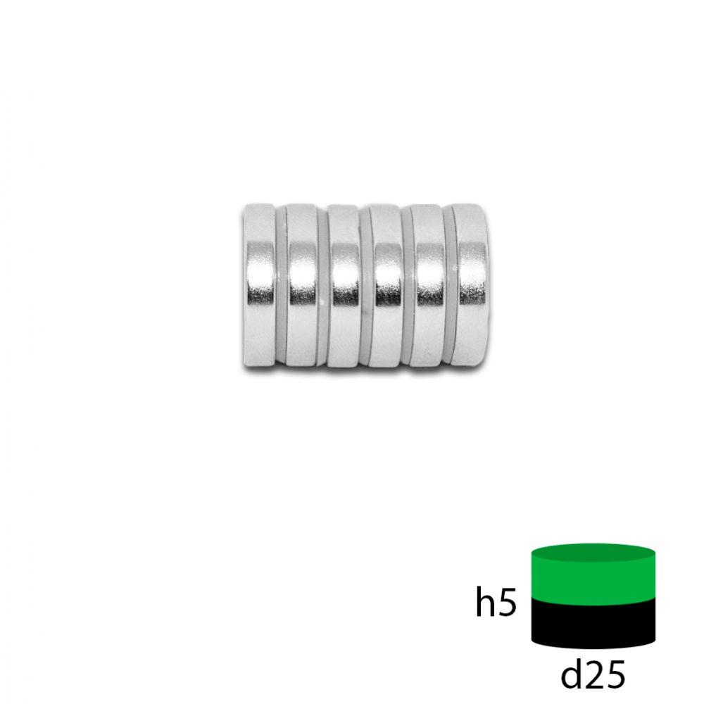 Неодимовый магнит 25х5 мм.