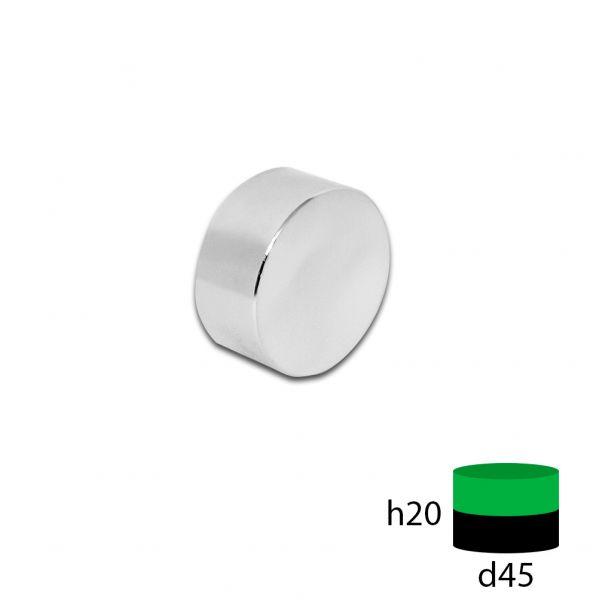 Неодимовый магнит 45х20 мм.
