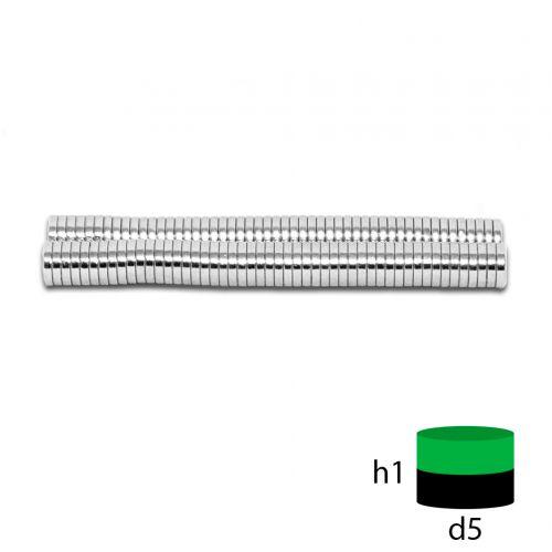Неодимовый магнит 5х1 мм.