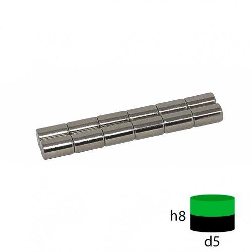 Неодимовый магнит пруток 5х8 мм.
