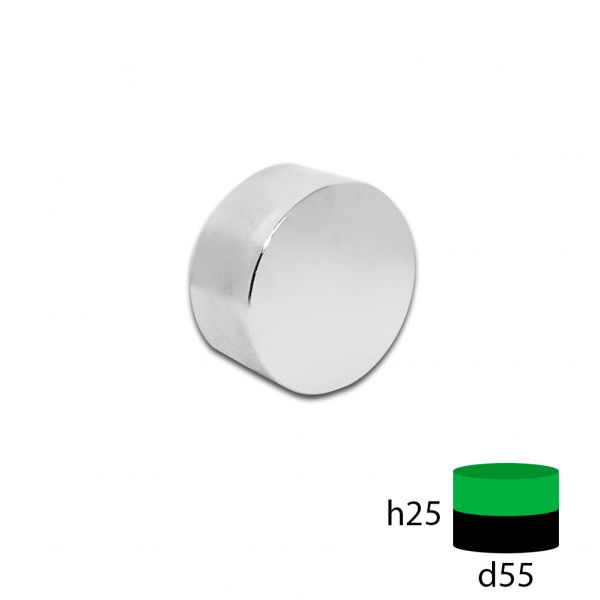 Неодимовый магнит 55х25 мм.