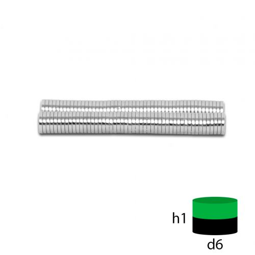 Неодимовый магнит 6х1 мм.