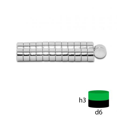 Неодимовый магнит 6х3 мм.