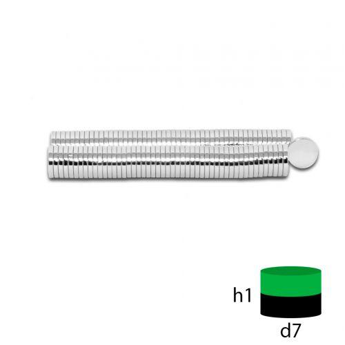 Неодимовый магнит 7х1 мм.