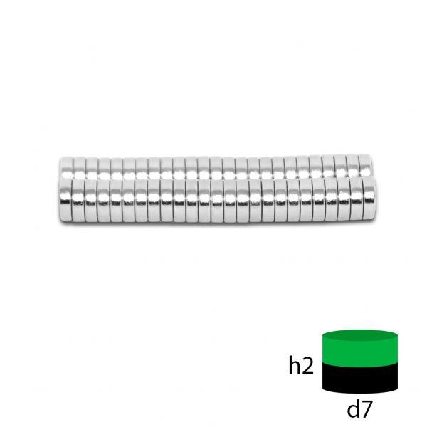 Неодимовый магнит 7х2 мм.