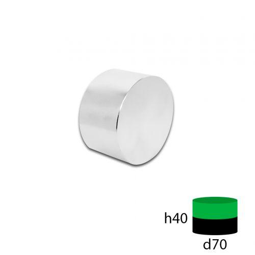 Неодимовый магнит диск 70х40 мм.