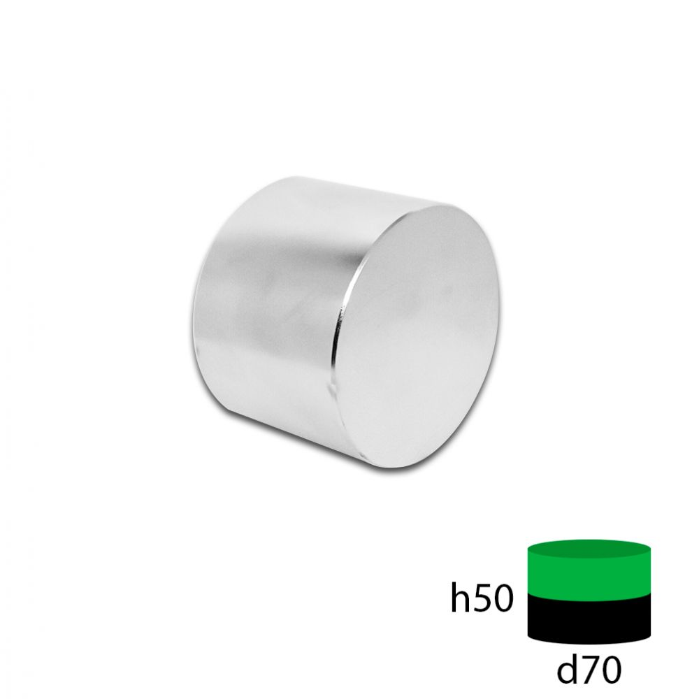 Неодимовый магнит диск 70х50 мм.