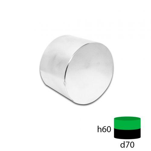 Неодимовый магнит диск 70х60 мм.