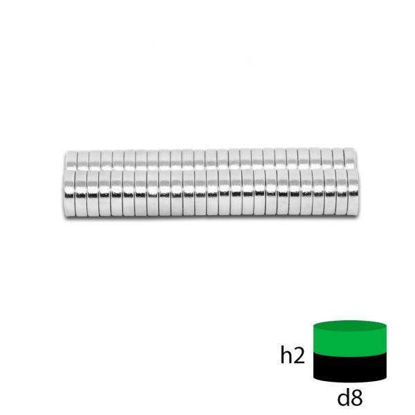 Неодимовый магнит 8х2 мм.
