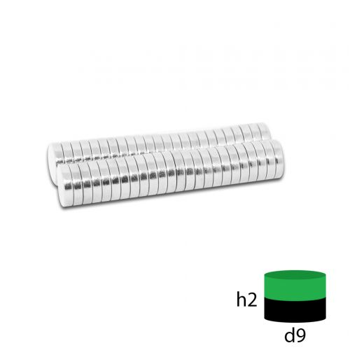 Неодимовый магнит 9х2 мм.