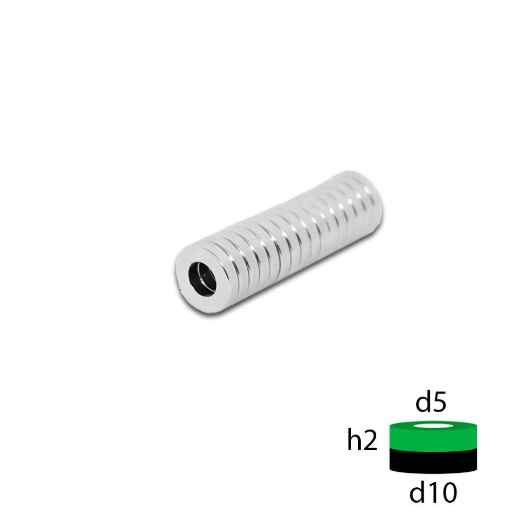 Неодимовое кольцо 10х5х2 мм.