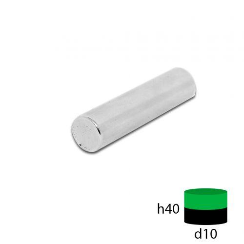 Неодимовый магнит пруток 10х40 мм.