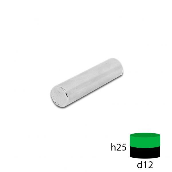 Неодимовый магнит пруток 12х25 мм.