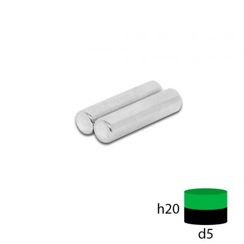 Неодимовый пруток 5х20 мм.