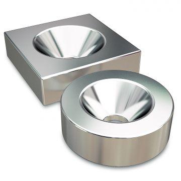Неодимовые магниты с зенковкой