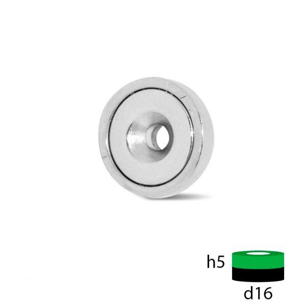 Магнитное крепление с отверстием под зенковку - А16