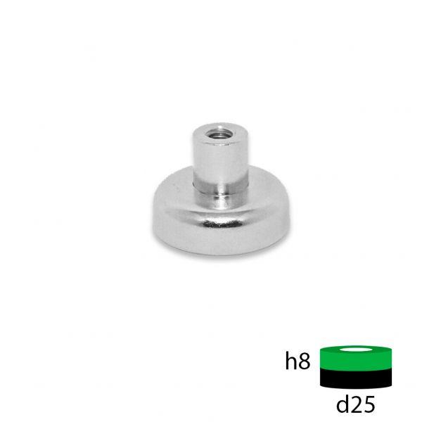 Магнитное крепление под болт D25