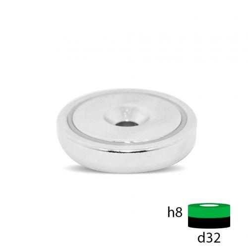 Магнитное крепление с отверстием под зенковку - А32