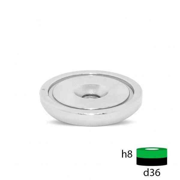 Магнитное крепление с отверстием под зенковку - А36