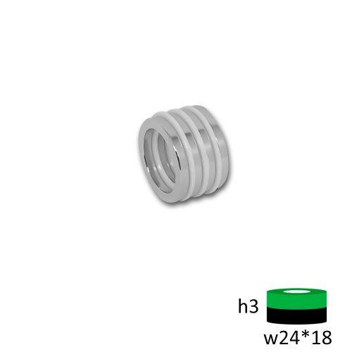 Неодимовый магнит кольцо 24х18х3 мм.