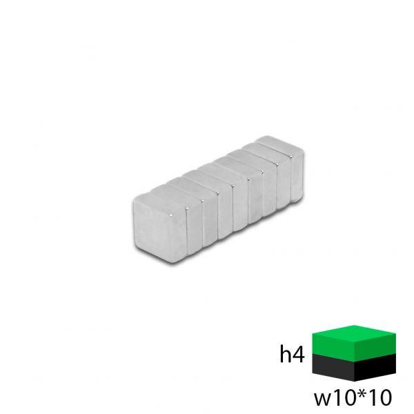 Неодимовый прямоугольник 10х10х4 мм.