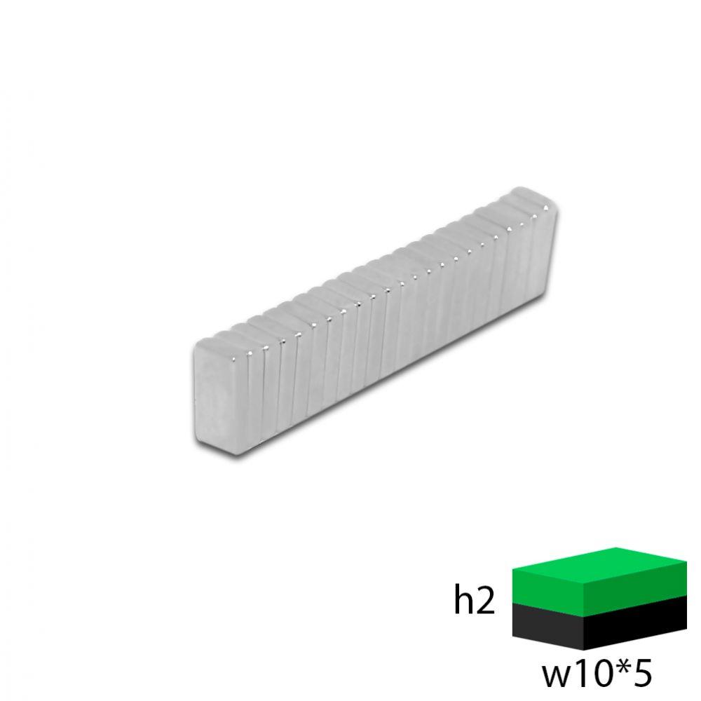 Неодимовый магнит прямоугольник 10х5х2 мм.