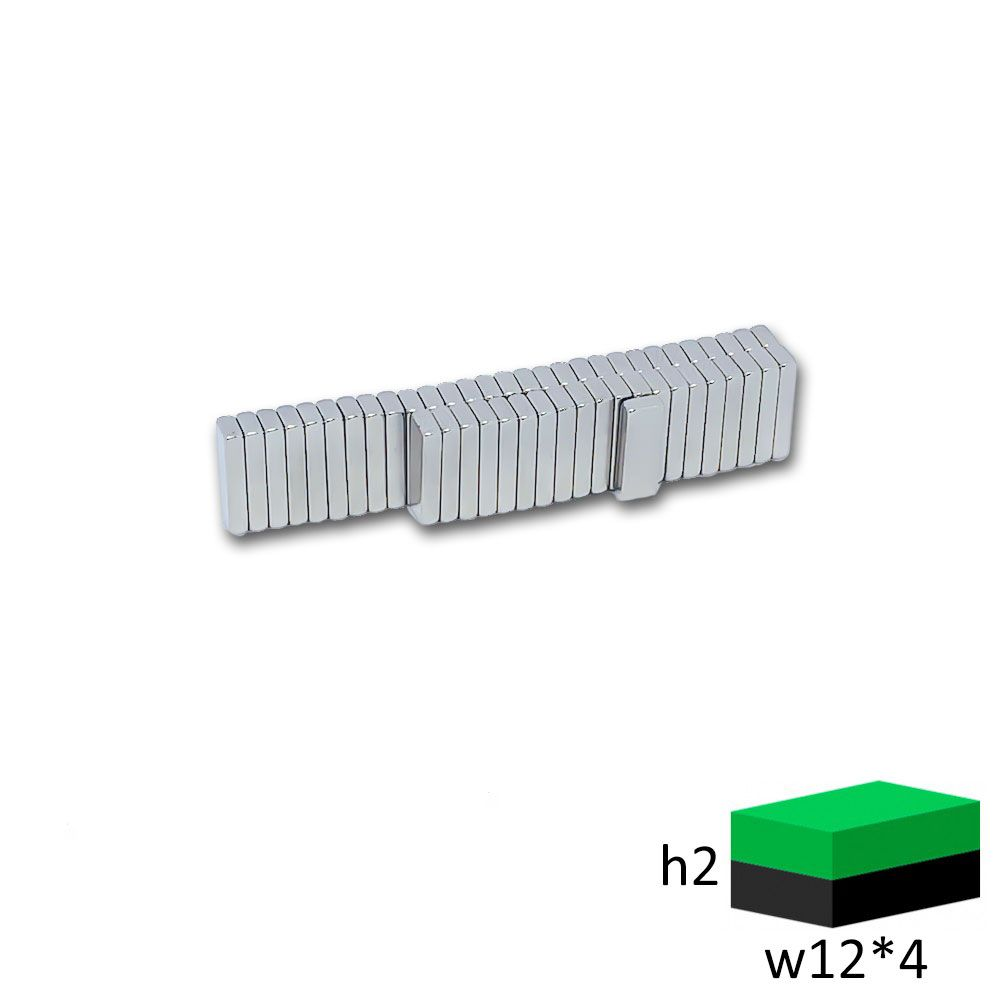 Неодимовый магнит прямоугольник 12х4х2 мм.
