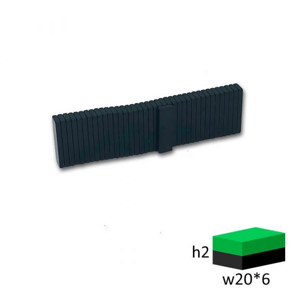 Неодимовый магнит прямоугольник 20х6х2 мм. черный
