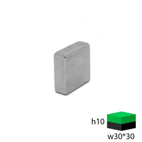 Неодимовый прямоугольник 30х30х10 мм.