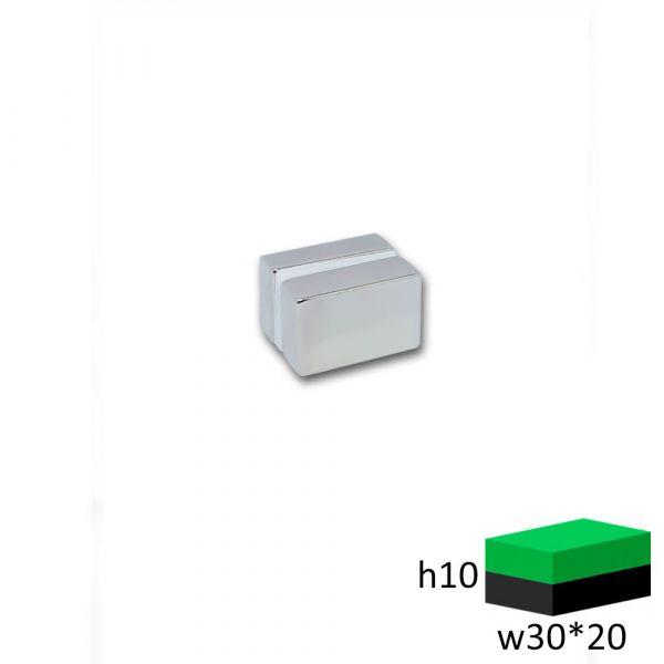 Неодимовый магнит прямоугольник 30х20х10 мм.