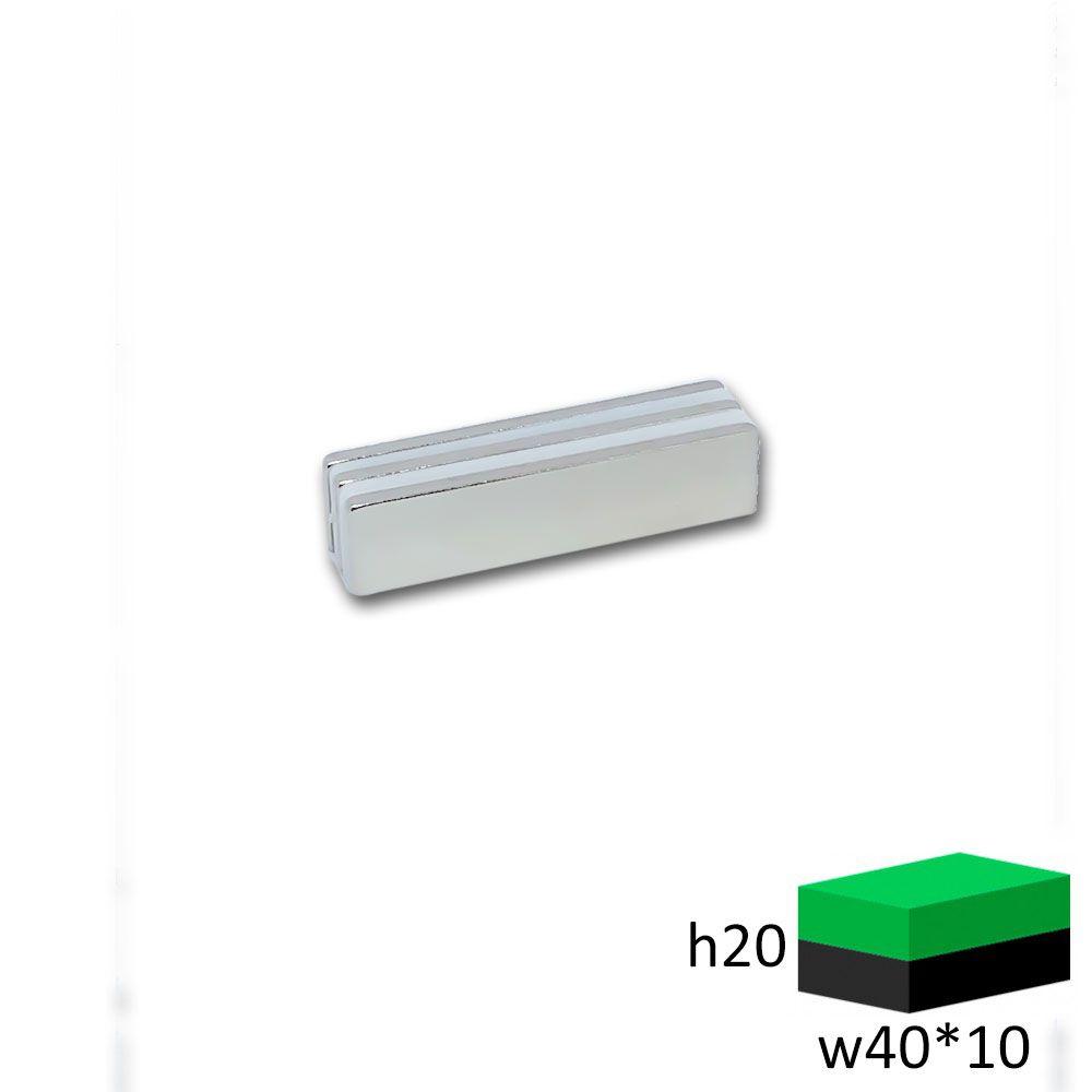 Неодимовый магнит прямоугольник 40х10х2 мм.