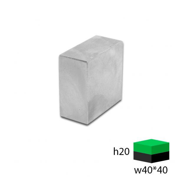 Неодимовый прямоугольник 40х40х20 мм.