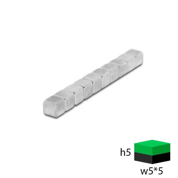 Неодимовый прямоугольник 5х5х5 мм.