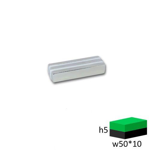 Неодимовый магнит прямоугольник 50х10х5 мм.