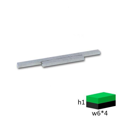 Неодимовый магнит прямоугольник 6х4х1 мм.