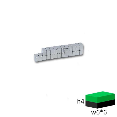 Неодимовый магнит прямоугольник 6х6х4 мм.