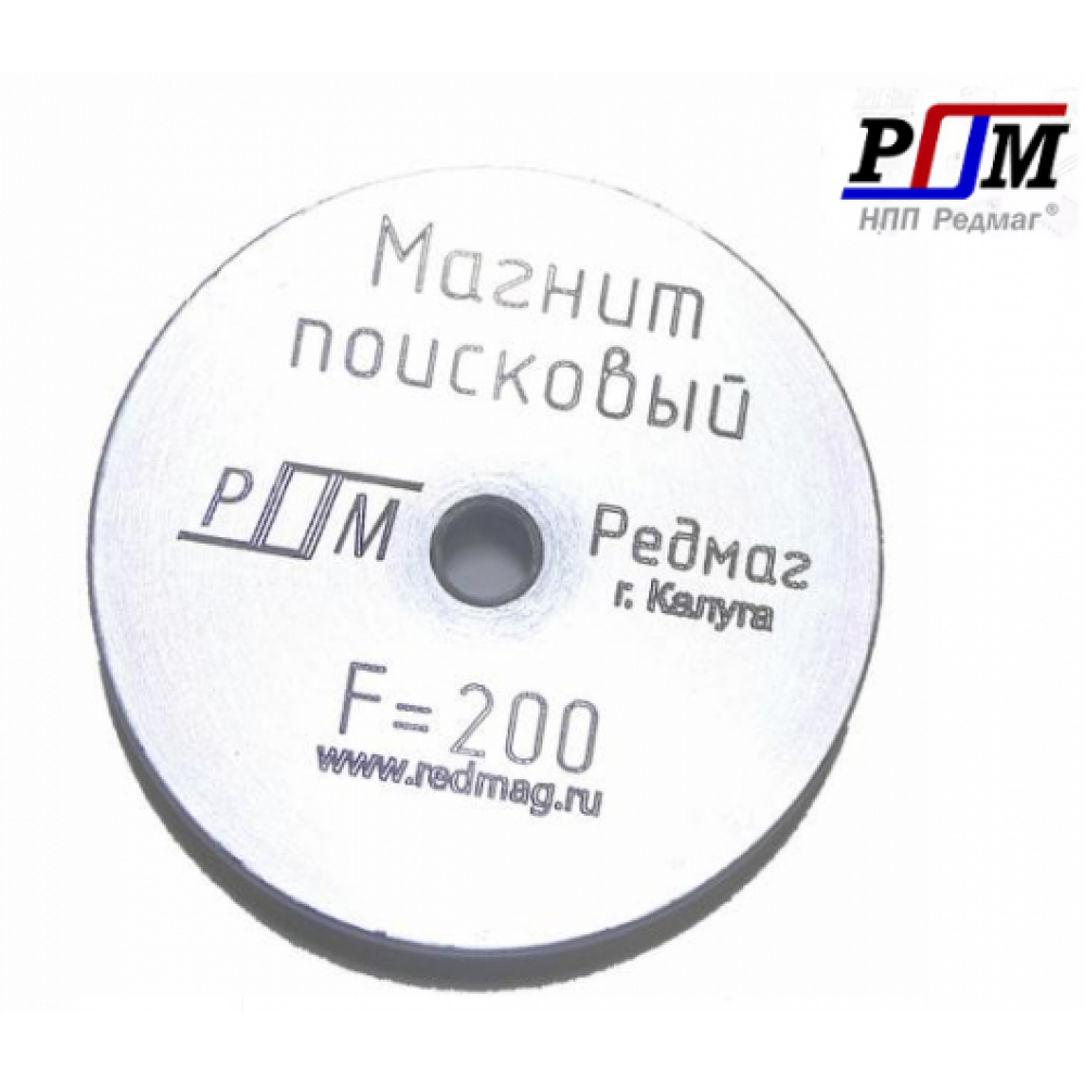 Поисковый магнит односторонний F200 Редмаг (200 кг.)