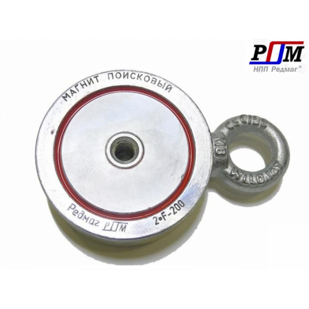 Поисковый магнит двухсторонний F200х2 Редмаг (200 кг.)