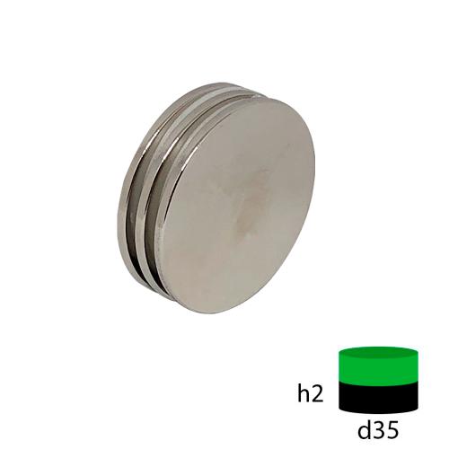 Неодимовый магнит диск 35х2 мм