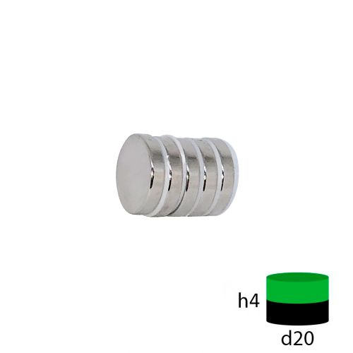 Неодимовый магнит диск 20х4 мм.